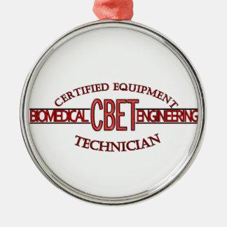 CBET BIOMEDICAL ENGINEERING LOGO  EQUIPMENT TECH METAL ORNAMENT