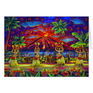 CBjork Hawaiian Luau Greeting Cards