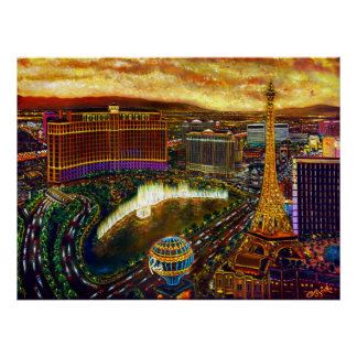 CBjork Las Vegas City Of Gold Poster