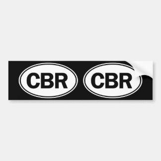 CBR Oval ID Bumper Sticker