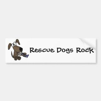 CC- Funny Puppy Dog Playing Trumpet Cartoon Bumper Sticker