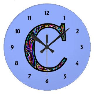 Cc Illuminated Monogram Large Clock