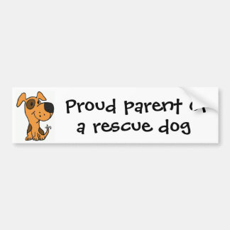 CC- Proud parent of a rescue dog bumper sticker