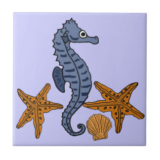 CC- Sea Horse and Star Fish Tile