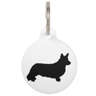 ccardigan welsh corgi silo black pet name tag