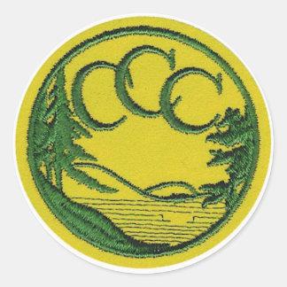 CCC Patch Round Sticker