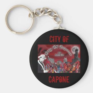 CCCCCCITY, CITY OF, CAPONE BASIC ROUND BUTTON KEY RING
