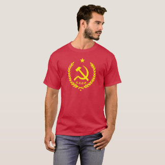 CCCP Communist Hammer and Sickle Badge T-Shirt