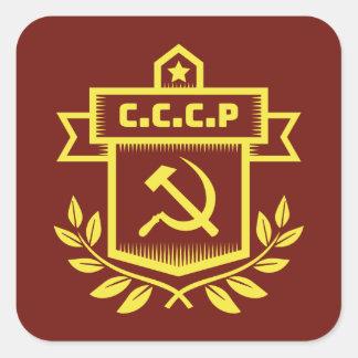CCCP Emblem Square Stickers