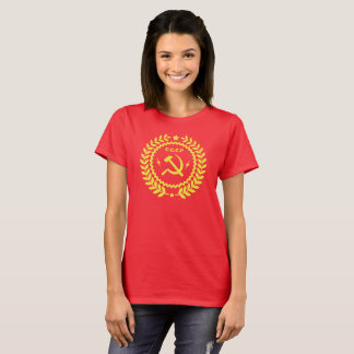 CCCP Hamer & Sickle Emblem Women's Basic T-Shirt
