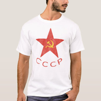 CCCP Hammer & Sickle in Red Star T-Shirt