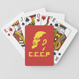 CCCP Lenin Portrait Poker Playing Cards