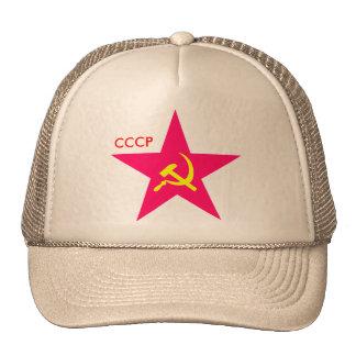 CCCP Red Star Hammer & Sickle Cap Trucker Hats