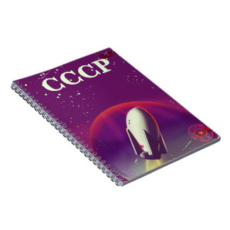CCCP Soviet space race travel poster Spiral Notebook