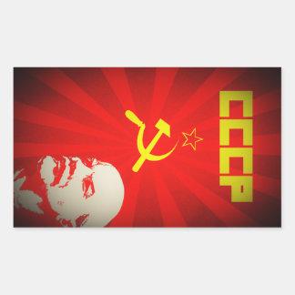 cccp soviet union communist red lenin russia propa rectangular sticker