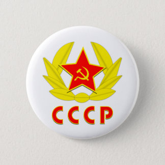 cccp ussr hammer and sickle emblem 6 cm round badge