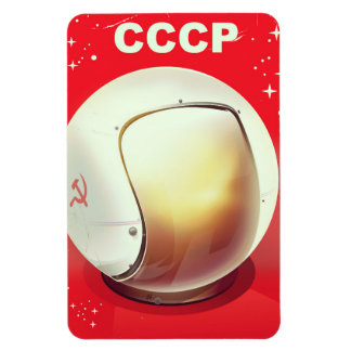 CCCP vintage red Soviet Space poster Magnet