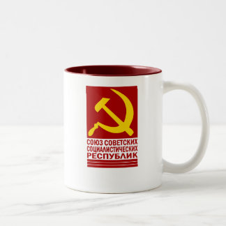 CCCP with Hammer and Sickle Two-Tone Coffee Mug