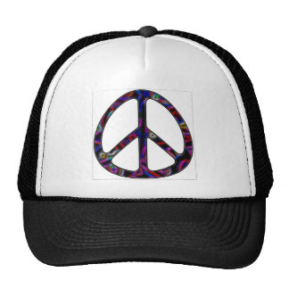 ccolorful peace sign trucker hats
