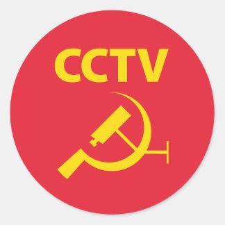 CCTV Flag Classic Round Sticker