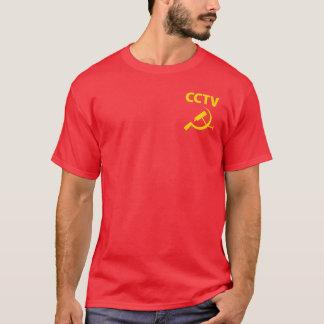 CCTV Yellow Pocket Left T-Shirt