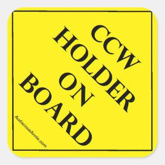 CCW Holder on Board Square Sticker