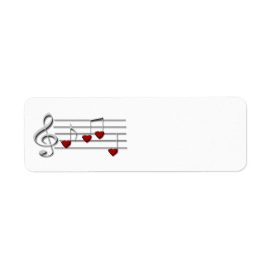 CD clef music custom label Return Address Label