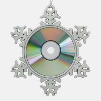 """""""CD"""" design gifts and products Pewter Snowflake Decoration"""