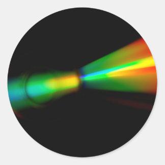 CD Detail Round Sticker