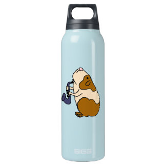 CD- Guinea Pig Playing the Saxophone Insulated Water Bottle