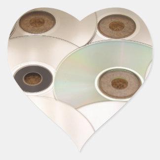 cd heart sticker