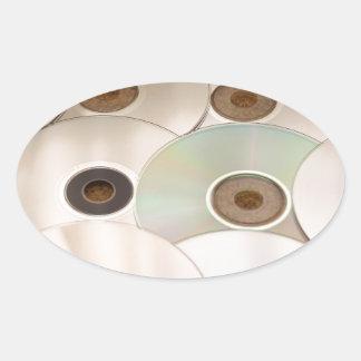 cd oval sticker