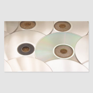cd rectangular sticker