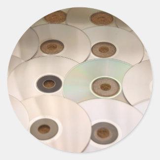 cd round sticker