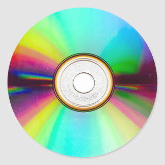 CD Round Stickers