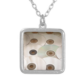 cd silver plated necklace