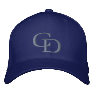 CD Solid Silver Embroidered Hat