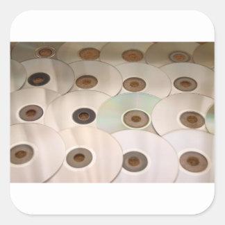 cd square sticker