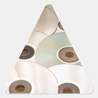 cd triangle sticker
