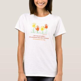 CDO flowers/handprints shirt