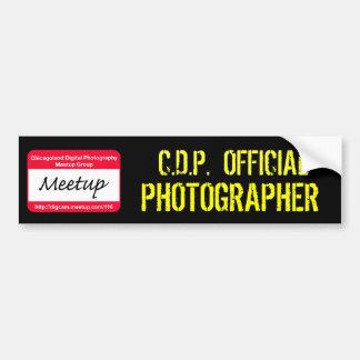 CDP  OFFICIAL PHOTOGRAPHER Sticker Bumper Sticker