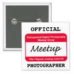 CDP  Photographer badge - white Pinback Buttons