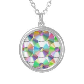 CDs Round Pendant Necklace