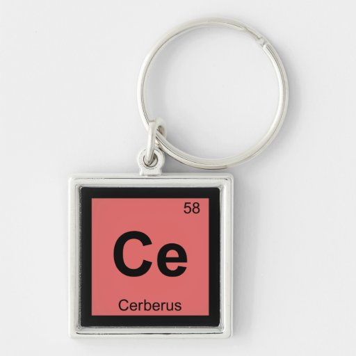 Ce - Cerberus Greek Chemistry Periodic Table Key Chains