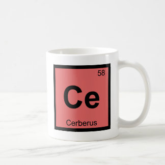 Ce - Cerberus Greek Chemistry Periodic Table Coffee Mug
