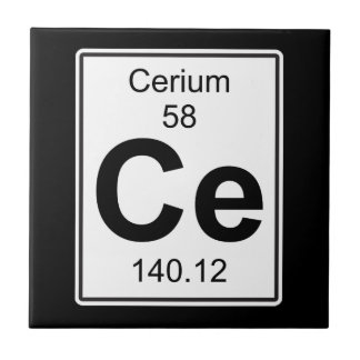Ce - Cerium Small Square Tile