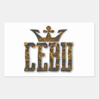 Cebu Royalty Rectangular Sticker