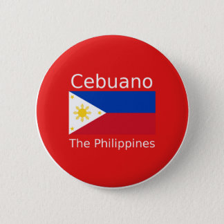 Cebuano Language And Philippines Flag 6 Cm Round Badge