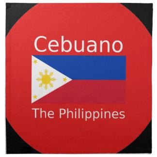 Cebuano Language And Philippines Flag Napkin