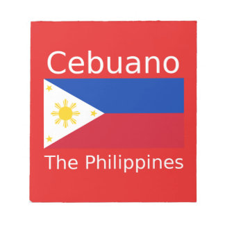 Cebuano Language And Philippines Flag Notepad